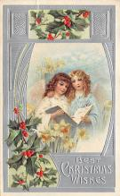xms006037 - Christmas Post Card Old Vintage Antique Xmas Postcard
