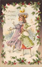 xms006045 - Christmas Post Card Old Vintage Antique Xmas Postcard