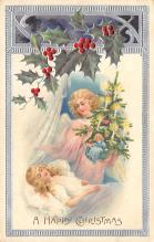 xms006047 - Christmas Post Card Old Vintage Antique Xmas Postcard