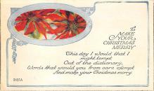 xms006049 - Christmas Post Card Old Vintage Antique Xmas Postcard