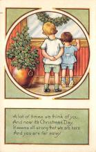 xms006053 - Christmas Post Card Old Vintage Antique Xmas Postcard
