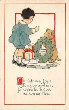 xms006055 - Christmas Post Card Old Vintage Antique Xmas Postcard