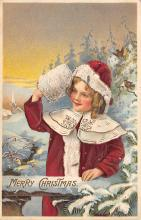 xms006073 - Christmas Post Card Old Vintage Antique Xmas Postcard