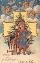 xms006081 - Christmas Post Card Old Vintage Antique Xmas Postcard