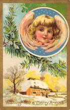 xms006097 - Christmas Post Card Old Vintage Antique Xmas Postcard