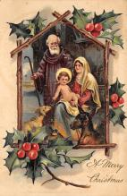 xms006099 - Christmas Post Card Old Vintage Antique Xmas Postcard