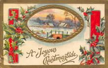 xms006101 - Christmas Post Card Old Vintage Antique Xmas Postcard