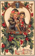 xms006103 - Christmas Post Card Old Vintage Antique Xmas Postcard