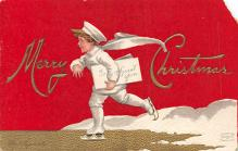 xms006107 - Christmas Post Card Old Vintage Antique Xmas Postcard
