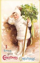 xms006111 - Christmas Post Card Old Vintage Antique Xmas Postcard