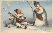 xms006113 - Christmas Post Card Old Vintage Antique Xmas Postcard