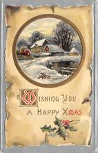 xms006117 - Christmas Post Card Old Vintage Antique Xmas Postcard