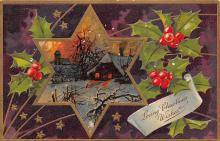 xms006123 - Christmas Post Card Old Vintage Antique Xmas Postcard