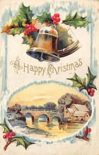 xms006129 - Christmas Post Card Old Vintage Antique Xmas Postcard