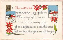 xms006135 - Christmas Post Card Old Vintage Antique Xmas Postcard
