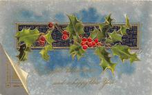 xms006137 - Christmas Post Card Old Vintage Antique Xmas Postcard