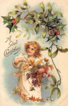 xms006145 - Christmas Post Card Old Vintage Antique Xmas Postcard