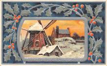 xms006147 - Christmas Post Card Old Vintage Antique Xmas Postcard