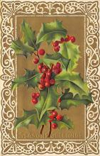 xms006151 - Christmas Post Card Old Vintage Antique Xmas Postcard