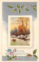 xms006161 - Christmas Post Card Old Vintage Antique Xmas Postcard