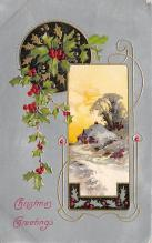 xms006171 - Christmas Post Card Old Vintage Antique Xmas Postcard