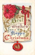 xms006179 - Christmas Post Card Old Vintage Antique Xmas Postcard