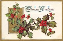xms006189 - Christmas Post Card Old Vintage Antique Xmas Postcard
