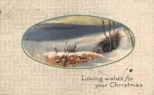 xms006191 - Christmas Post Card Old Vintage Antique Xmas Postcard