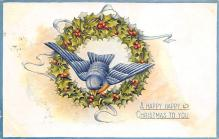 xms006195 - Christmas Post Card Old Vintage Antique Xmas Postcard