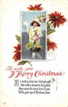 xms006197 - Christmas Post Card Old Vintage Antique Xmas Postcard