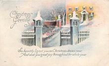 xms006199 - Christmas Post Card Old Vintage Antique Xmas Postcard