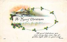 xms006201 - Christmas Post Card Old Vintage Antique Xmas Postcard