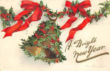 xms006203 - Christmas Post Card Old Vintage Antique Xmas Postcard