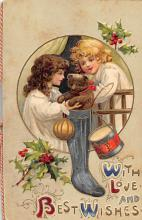 xms006209 - Christmas Post Card Old Vintage Antique Xmas Postcard