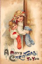xms006211 - Christmas Post Card Old Vintage Antique Xmas Postcard