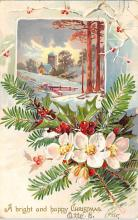 xms006213 - Christmas Post Card Old Vintage Antique Xmas Postcard