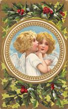 xms006217 - Christmas Post Card Old Vintage Antique Xmas Postcard