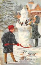 xms006219 - Christmas Post Card Old Vintage Antique Xmas Postcard