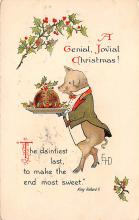 xms006225 - Christmas Post Card Old Vintage Antique Xmas Postcard