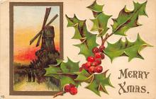 xms006245 - Christmas Post Card Old Vintage Antique Xmas Postcard
