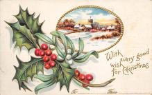 xms006249 - Christmas Post Card Old Vintage Antique Xmas Postcard