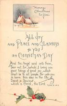 xms006251 - Christmas Post Card Old Vintage Antique Xmas Postcard
