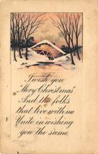 xms006253 - Christmas Post Card Old Vintage Antique Xmas Postcard