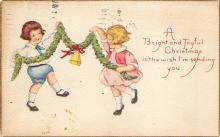 xms006255 - Christmas Post Card Old Vintage Antique Xmas Postcard