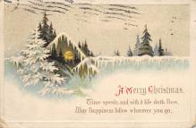 xms006257 - Christmas Post Card Old Vintage Antique Xmas Postcard