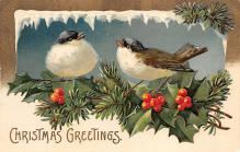 xms006261 - Christmas Post Card Old Vintage Antique Xmas Postcard
