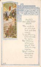 xms006263 - Christmas Post Card Old Vintage Antique Xmas Postcard