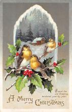 xms006269 - Christmas Post Card Old Vintage Antique Xmas Postcard