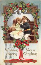 xms006277 - Christmas Post Card Old Vintage Antique Xmas Postcard