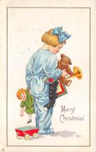 xms006283 - Christmas Post Card Old Vintage Antique Xmas Postcard